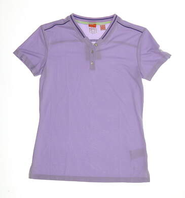 New Womens Puma Novelty Golf Top Small S Orchid Bloom Purple MSRP $65