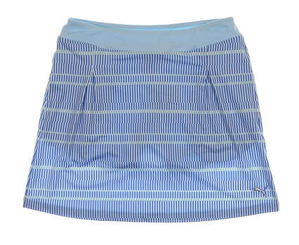 New Womens Puma Line Print Golf Skort Size Small S Omphalodes Blue MSRP $70