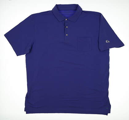 New W/ Logo Mens Peter Millar Mountainside Collection Polo X-Large XL Purple MSRP $90