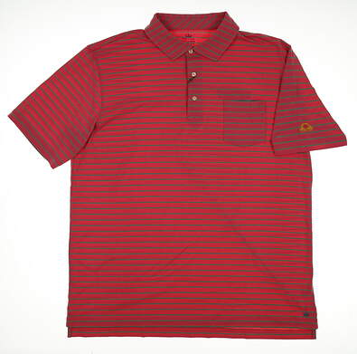 New W/ Logo Mens Peter Millar Mountainside Collection Polo Large L Pink MSRP $90