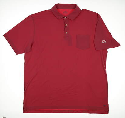 New W/ Logo Mens Peter Millar Mountainside Collection Polo X-Large XL Pink MSRP $90