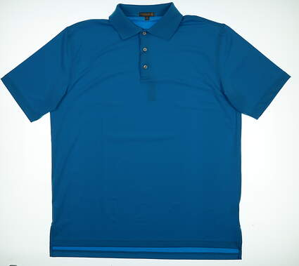 New Mens Peter Millar Golf Polo X-Large XL Blue MSRP $79