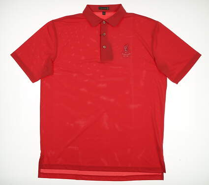 New W/ Logo Mens Peter Millar Golf Polo Large L Pink MSRP $79