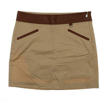 New Womens Ralph Lauren Golf Skort Size 6 Brown MSRP $125