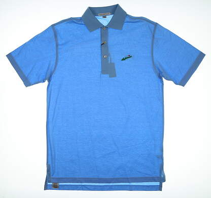 New W/ Logo Mens Peter Millar Golf Polo Small S Blue MSRP $99