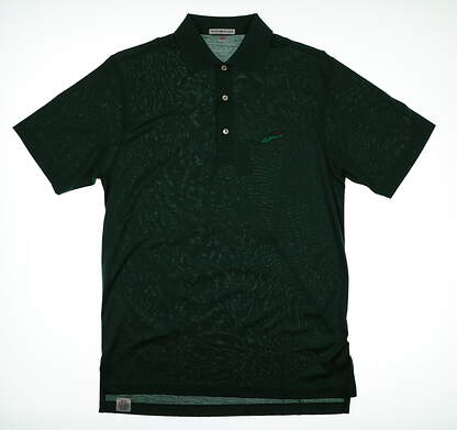 New W/ Logo Mens Peter Millar Golf Polo Small S Green MSRP $88