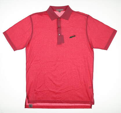 New W/ Logo Mens Peter Millar Golf Polo Small S Pink MSRP $98