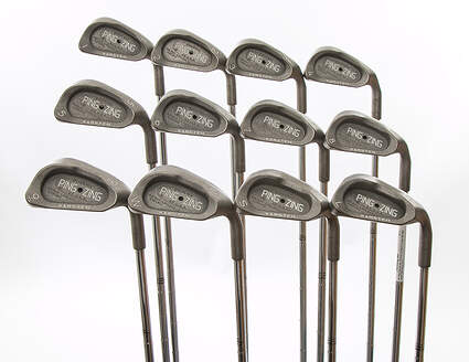 Mint Ping Zing Iron Set 1-PW SW LW Ping KT-M Steel Stiff Right Handed Black Dot 37.75 in
