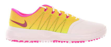 New Womens Golf Shoe Nike Lunar Empress 2 7 White/Volt/Pink Blast MSRP $120