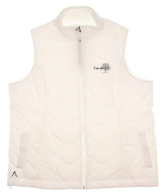New W/ Logo Womens Antigua Heiress Golf Vest X-Large XL White MSRP $60