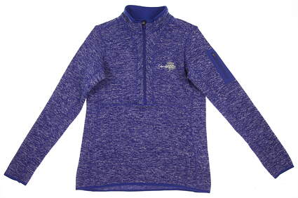 New W/ Logo Womens Antigua Fortune 1/2 Zip Golf Pullover Medium M Blue MSRP $70