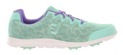 New Womens Golf Shoe Footjoy enJoy Medium 9 Mint/Purple MSRP $80