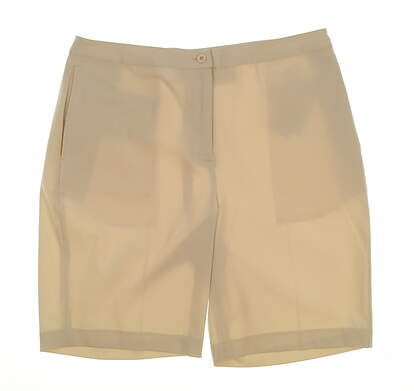 New Womens EP Pro Basics Golf Shorts Size 10 Ecru MSRP $85
