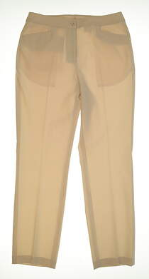 New Womens EP Pro Basics Golf Pants Size 10 Ecru MSRP $99