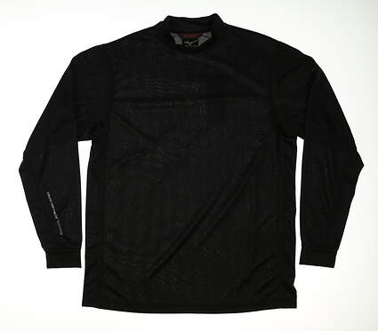 New Mens Mizuno All Long Sleeve Golf Mock Neck Small S Black MSRP $50