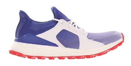 New Womens Golf Shoe Adidas Climacross Boost Spikeless Special Edition USA Medium 7.5 White/Blue MSRP $130