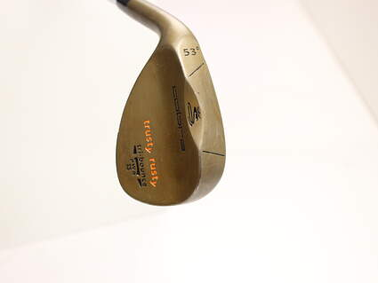 Cobra 2012 Trusty Rusty Rust Finish Wedge Gap GW 53* FST KBS Hi-Rev Steel X-Stiff Left Handed 34.75 in