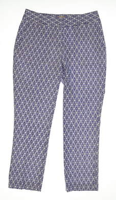 New Womens Sport Haley Ankle Golf Pants Size 4 Blue/White MSRP $88