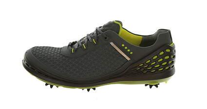 New Mens Golf Shoe Ecco Cage Evo 43 (9/9.5) Dark Shadow/Sulphur MSRP $200