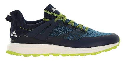 New Mens Golf Shoe Adidas Crossknit Boost Medium 9.5 Blue/Lime MSRP $160