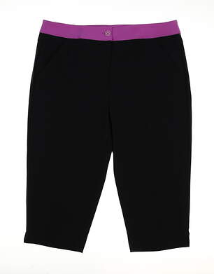 New Womens EP Pro Notting Hill Golf Capris Size 10 Navy/Purple MSRP $84 9520JB