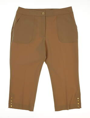 New Womens EP Pro From Afar Golf Capris Size 6 Praline MSRP $84 9340HD