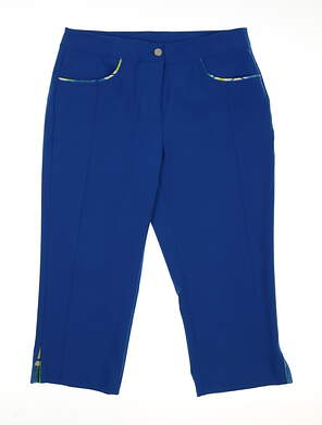New Womens EP Pro Ingenue Golf Capris Size 2 Blue MSRP $84 9330HC