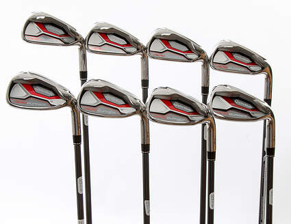 Mint TaylorMade Aeroburner HL Iron Set 4-PW GW TM AeroBurner REAX 60 Graphite Senior Right Handed 38.25 in