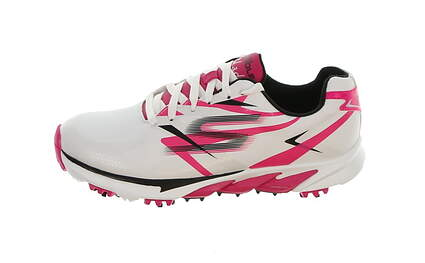 New Womens Golf Shoe Sketchers Go Golf Blade 7.5 White/Pink/Black MSRP $130