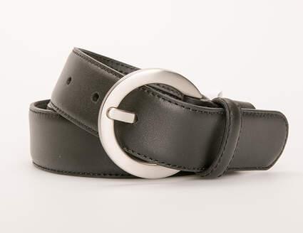 New Womens Nike G-Flex Belt Small S Leather Black MSRP $50 13092-001