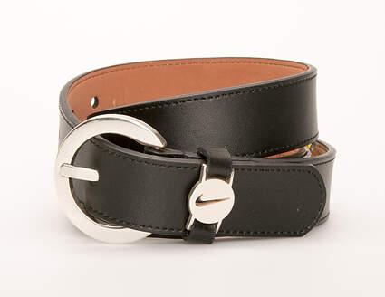 New Womens Nike Belt Large L Leather Black MSRP $40 13059-01