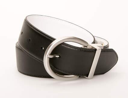 New Womens Nike Reversible Belt Large L Leather Black/White MSRP $45 13048-25