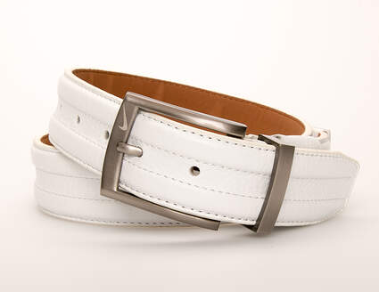 New Mens Nike G-Flex Belt 32 Leather White MSRP $45 11084-04