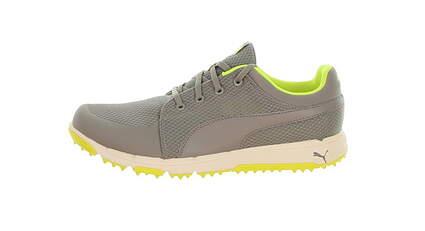 New Mens Golf Shoe Puma Grip Sport Medium 11 Drizzle/Safety Yellow MSRP $80