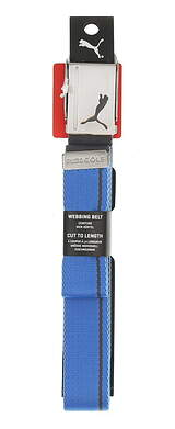 New Mens Puma Reverisble Web Belt One Size French Blue/Quiet Shade MSRP $20