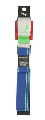 New Mens Puma Reversible Web Belt One Size True Blue/Andean Toucan MSRP $20
