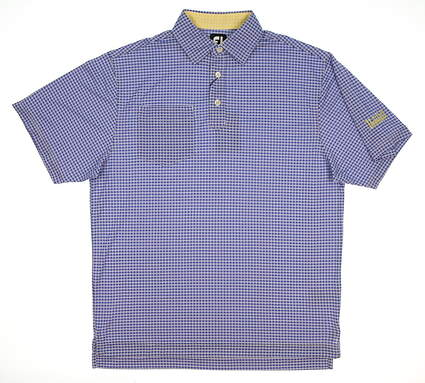 New W/ Logo Mens Footjoy Golf Polo Medium M Blue/White MSRP $68
