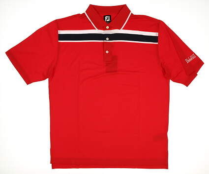 New W/ Logo Mens Footjoy Golf Polo X-Large XL Red MSRP $75