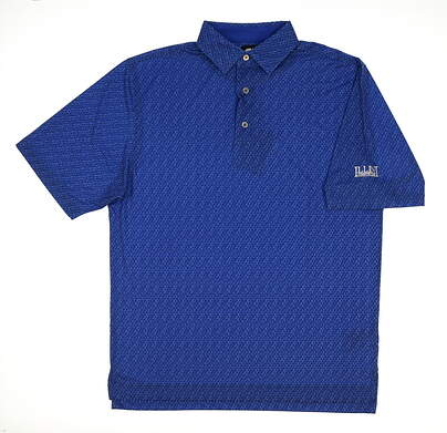 New W/ Logo Mens Footjoy Golf Polo Medium M Blue MSRP $75