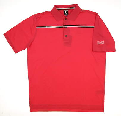 New W/ Logo Mens Footjoy Golf Polo X-Large XL Pink MSRP $75