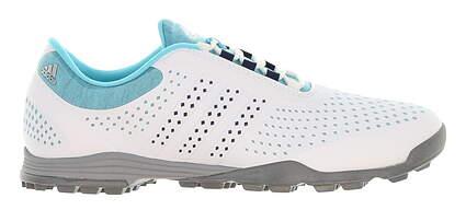 New Womens Golf Shoe Adidas Adipure Sport Medium 9.5 White/Blue MSRP $100