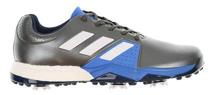 New Mens Golf Shoe Adidas Adipower Boost 3 Medium 9.5 Silver/Blue/White MSRP $120