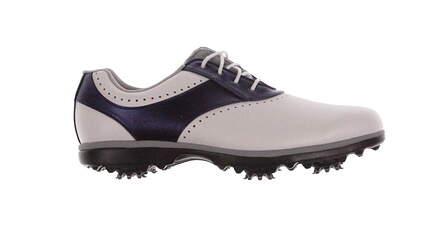 New Womens Golf Shoe Footjoy eMerge Medium 10 White/Navy MSRP $90