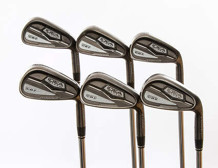 Adams Idea Black CB3 Iron Set 5-PW FST KBS Tour 90 Steel Stiff Right Handed 38.5 in