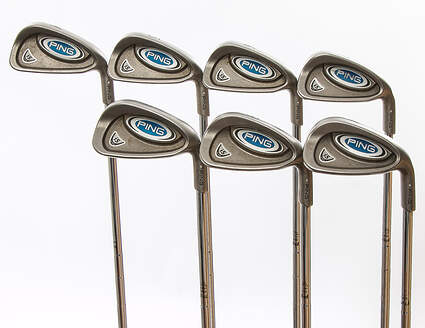 Ping i5 Iron Set 4-PW Stock Steel Shaft Steel Stiff Right Handed Silver Dot 38.25 in