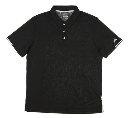 New Mens Adidas Climachill Solid Club Golf Polo Large L Black MSRP $70 BC2961