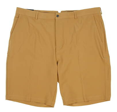 New Mens Dunning Players Fit Solid 4-Way Stretch Woven Shorts Size 40 Khaki (Dark Beige) MSRP $80 D7S13H055