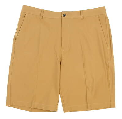 New Mens Dunning Players Fit Solid 4-Way Stretch Woven Shorts Size 33 Khaki (Dark Beige) MSRP $80 D7S13H055