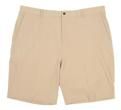New Mens Dunning Players Fit Solid 4-Way Stretch Woven Shorts Size 40 Tan MSRP $80 D7S13H055