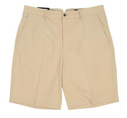 New Mens Dunning Players Fit Solid 4-Way Stretch Woven Shorts Size 33 Tan MSRP $80 D7S13H055